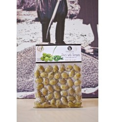 Delicious Crete 250 g Oregano flavored Green Olives