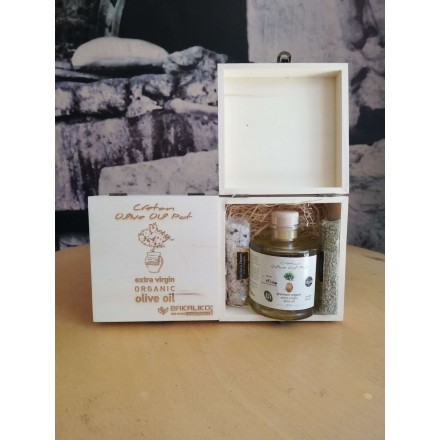 Cretan Olive Oil Pot Gift Box limited edition for Bakaliko
