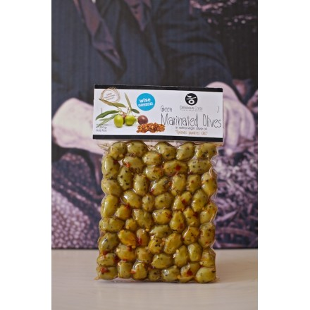 Delicious Crete 250 g Spicy Green Olives