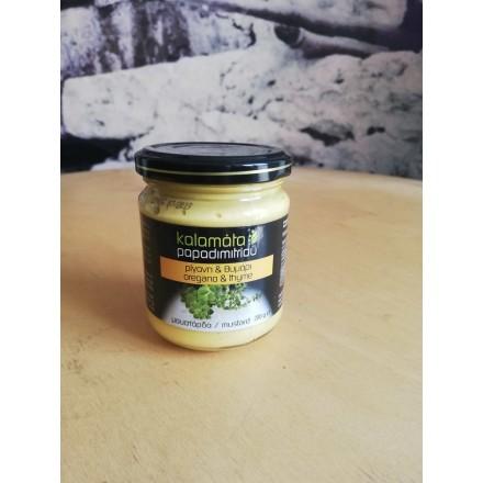 Kalamata Papadimitriou Oregano & Thyme mustard 200g