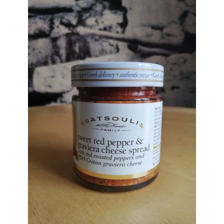 Tsatsoulis family Sweet Red Pepper & Graviera Cheese spread 200g